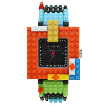 【nanoblock河田積木】中性錶白框黑面WA05(微型積木)