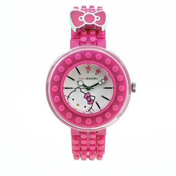 限量>nanoblock迷你積木手錶 (Hello Kitty聯名款)桃紅