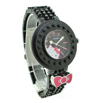 限量>nanoblock迷你積木手錶 (Hello Kitty聯名款)黑色