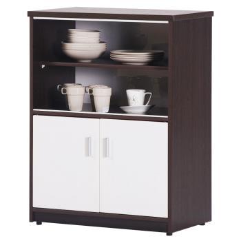 【顛覆設計】潮濕剋星-防水塑鋼2.2尺碗碟櫃/餐櫃(四色可選)
