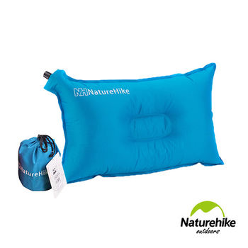 Naturehike 戶外露營 自動充氣枕頭(藍色)
