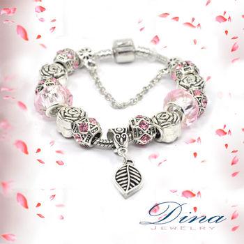 DINA JEWELRY蒂娜珠寶   薔薇之戀  潘朵拉風格 設計手鍊