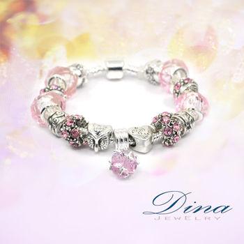 DINA JEWELRY蒂娜珠寶  奇幻粉紅 潘朵拉風格 設計手鍊