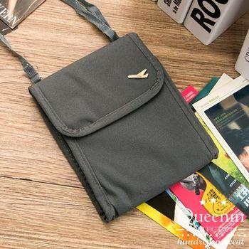 DF Queenin - 韓版隨身旅行斜背式護照包證件包