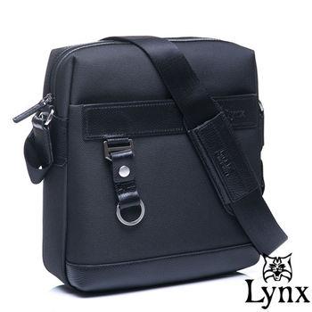 Lynx - 山貓經典極簡風格直式真皮側背包-共2色