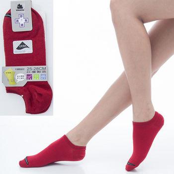【KEROPPA】可諾帕舒適透氣減臭加大踝襪x紅色兩雙(男女適用)C98004-X