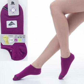 【KEROPPA】可諾帕舒適透氣減臭加大踝襪x紫紅兩雙(男女適用)C98004-X