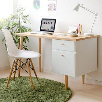 《舒適屋》拉德雙抽屜高質感工作桌/電腦桌(2色可選)