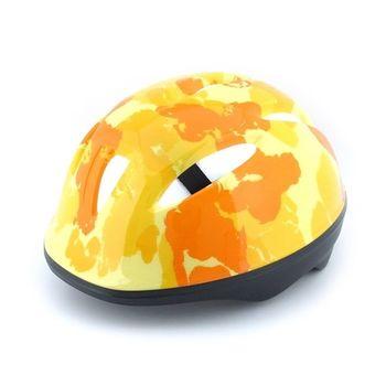 兒童安全帽/頭盔(黃迷彩)  台灣製造 /滑步車/滑板車用
