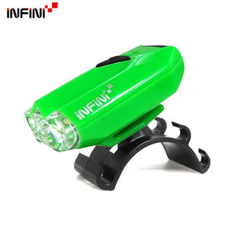 【INFINI】LAVA I-260W 2白光LED警示高亮度4模式前燈/台灣製-綠色