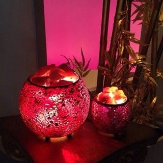 【SUMMER寶石】買大送小-時尚風格馬賽克鹽燈聚寶盆(超值組-限量優惠)