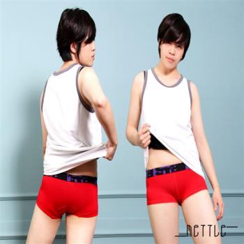 【METTLE】滾邊中性三角內褲 (紅)