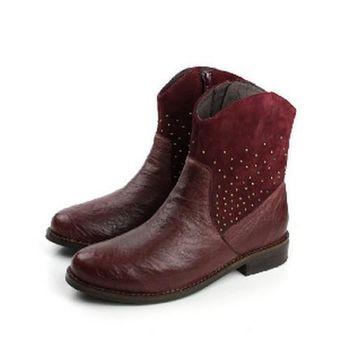 Kimo 靴子 紅 女款 no434