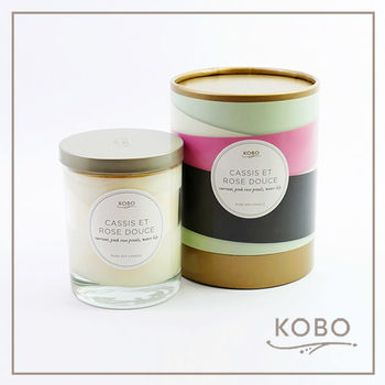 【KOBO】美國大豆精油蠟燭 - 甜美浪漫玫瑰(330g/可燃燒80hr)