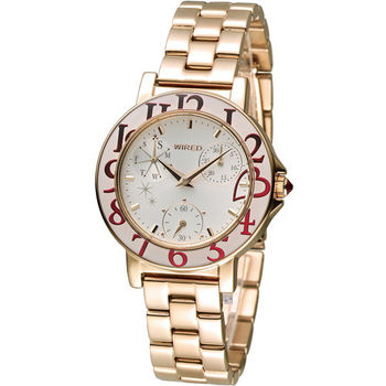 WIRED F 團團風格東京時尚腕錶 VD76-KD70G AP5026X1