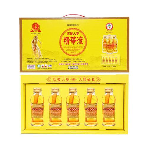 金蔘-韓國高麗人蔘精華液禮盒(120ml*5瓶 共5盒)贈精華液禮盒1盒
