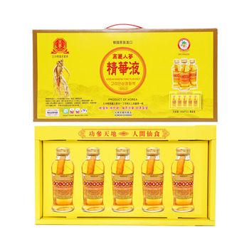 金蔘-韓國高麗人蔘精華液禮盒(120ml*5瓶 共10盒)贈精華液禮盒2盒