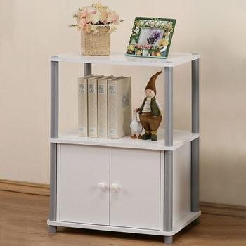 《Homelike》傑比三層雙門置物櫃(2色)