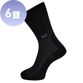 三合豐 ELF, 直紋彈性細針刺繡紳士襪/西裝襪-6雙(MIT 2色)