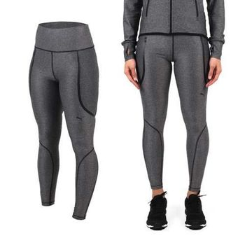【PUMA】PWRSHAPE 女緊身長褲-歐規  慢跑 路跑 瑜珈 有氧 休閒 灰 寬版腰頭