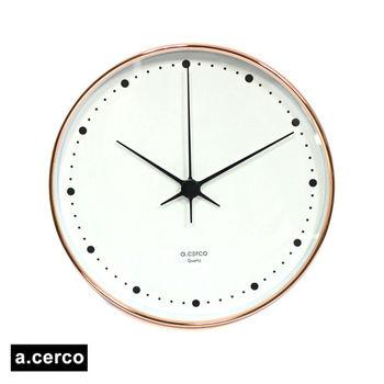 【a.cerco】Sparklel 金屬風掛鐘(玫瑰金)