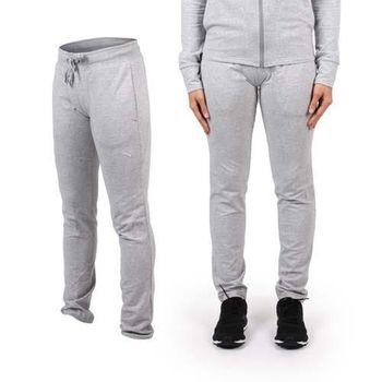 【PUMA】CLEVERDRY 女束口棉質長褲-慢跑 瑜珈 有氧 休閒 運動 淺灰