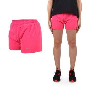 【MIZUNO】女路跑短褲- 美津濃 慢跑 路跑 休閒 運動 鐵人三項 桃紅 腰間暗袋