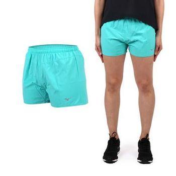 【MIZUNO】女路跑短褲- 美津濃 慢跑 路跑 休閒 運動 鐵人三項 湖水綠 腰間暗袋