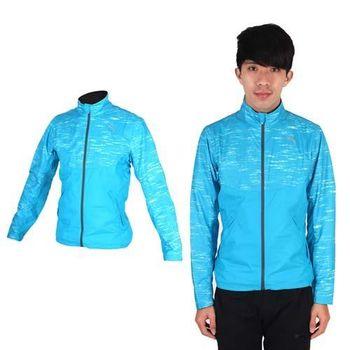 【PUMA】NIGHTCAT 男立領風衣外套- 防風 慢跑 路跑 運動 水藍銀 反光設計