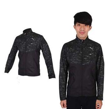 【PUMA】NIGHTCAT 男立領風衣外套- 防風 慢跑 路跑 休閒 運動 黑銀 反光設計