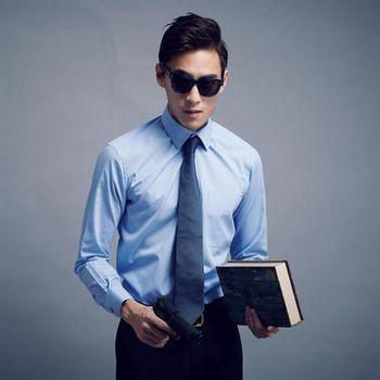 【WELLCUT】男士防皺長袖襯衫(藍)