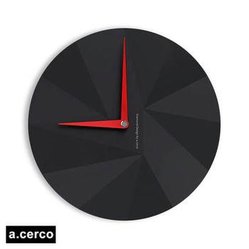 【a.cerco】DIAMOND 鑽石風格時鐘-黑色