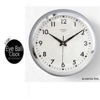 ~a.cerco~Eyeball clock Large 大鐵鐘 ^#40 亮銀 ^#41