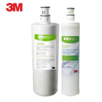 《3M》Filtrete 極淨便捷系列 S008淨水器專用替換濾芯F008 (3US-F008-5)一支+3M SQC前置PP濾芯(3RS-F001-5)一支