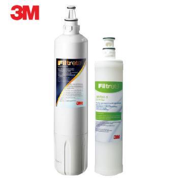 《3M》Filtrete 極淨便捷系列S003淨水器專用替換濾芯F003(3US-F003-5)一支+3M SQC 樹脂軟水替換濾心(3RF-F001-5)一支