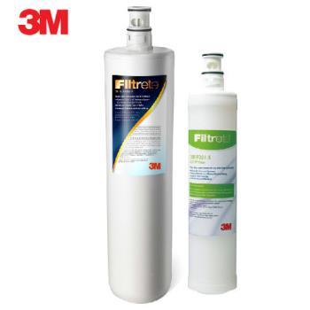 《3M》Filtrete 極淨便捷系列 S004淨水器專用替換濾芯F004 (3US-F004-5)一支+3M SQC樹脂軟水替換濾心(3RF-F001-5)一支