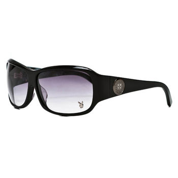 PLAYBOY-時尚太陽眼鏡(黑色)PB83035