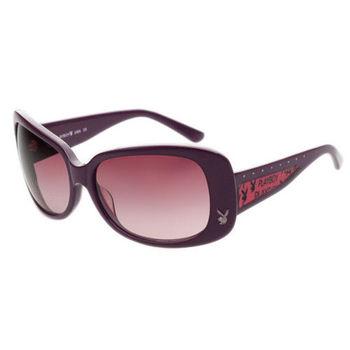 PLAYBOY-時尚太陽眼鏡(紫色)