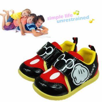 《布布童鞋》Disney迪士尼黃黑趣味兒童休閒鞋(17cm~19cm)MD5001K
