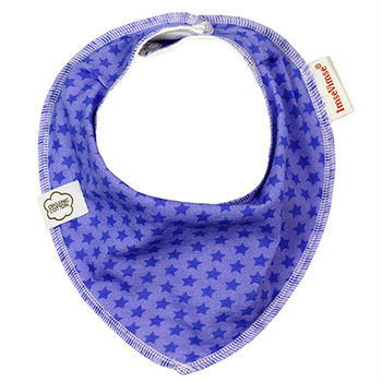 ImseVimse-有機棉領巾型圍兜(瑞紫星星)