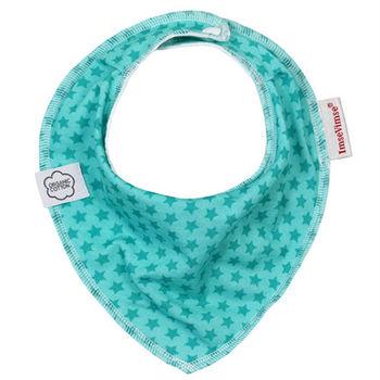 ImseVimse-有機棉領巾型圍兜(湖綠星星)