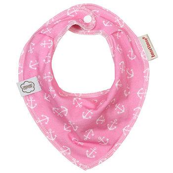 ImseVimse-有機棉領巾型圍兜(粉紅海軍)