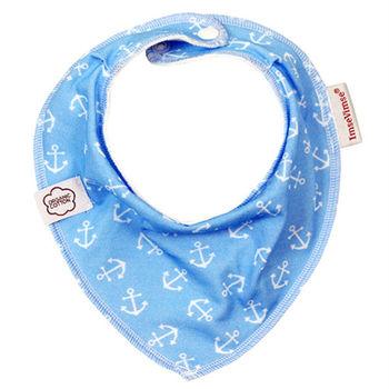 ImseVimse-有機棉領巾型圍兜(水藍海軍)