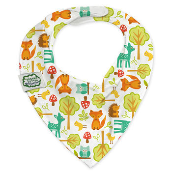 ImseVimse-有機棉領巾型圍兜(歡樂森林)