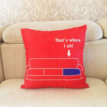 【協貿】簡約加厚亞麻大紅沙發座位沙發方形抱枕含芯