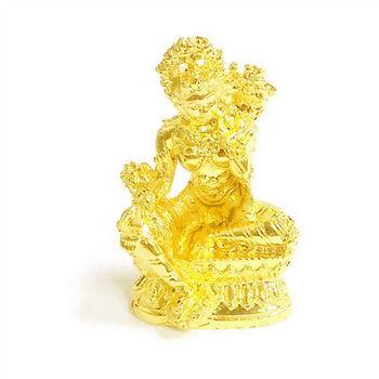 【十相自在】6.3公分 小佛像/法像-金黃色(綠度母)