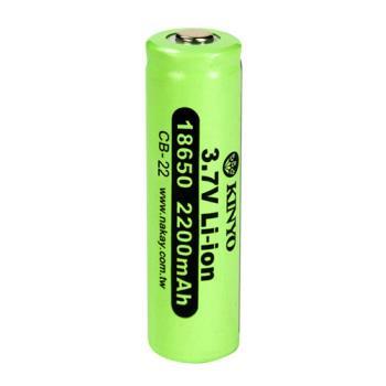 【KINYO】18650充電鋰電池x單入(CB-22)