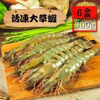 【漁季】活凍大草蝦6盒(300g/盒/10p)
