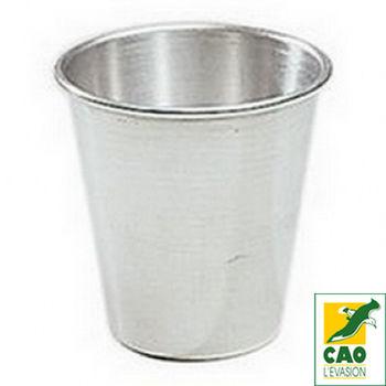 【法國CAO露營用品】AT陽極鋁錐形杯-法國製(銀色-兩個一組)