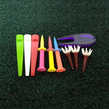 【HONO GOLF】高爾夫用品 組合包 (Wedge tee*3+66mm超軟兩節球梯*3+43mm水晶梯*3+果嶺整草器*1)